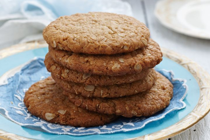 Healthy Biscuit Recipe  Giant Anzac biscuits