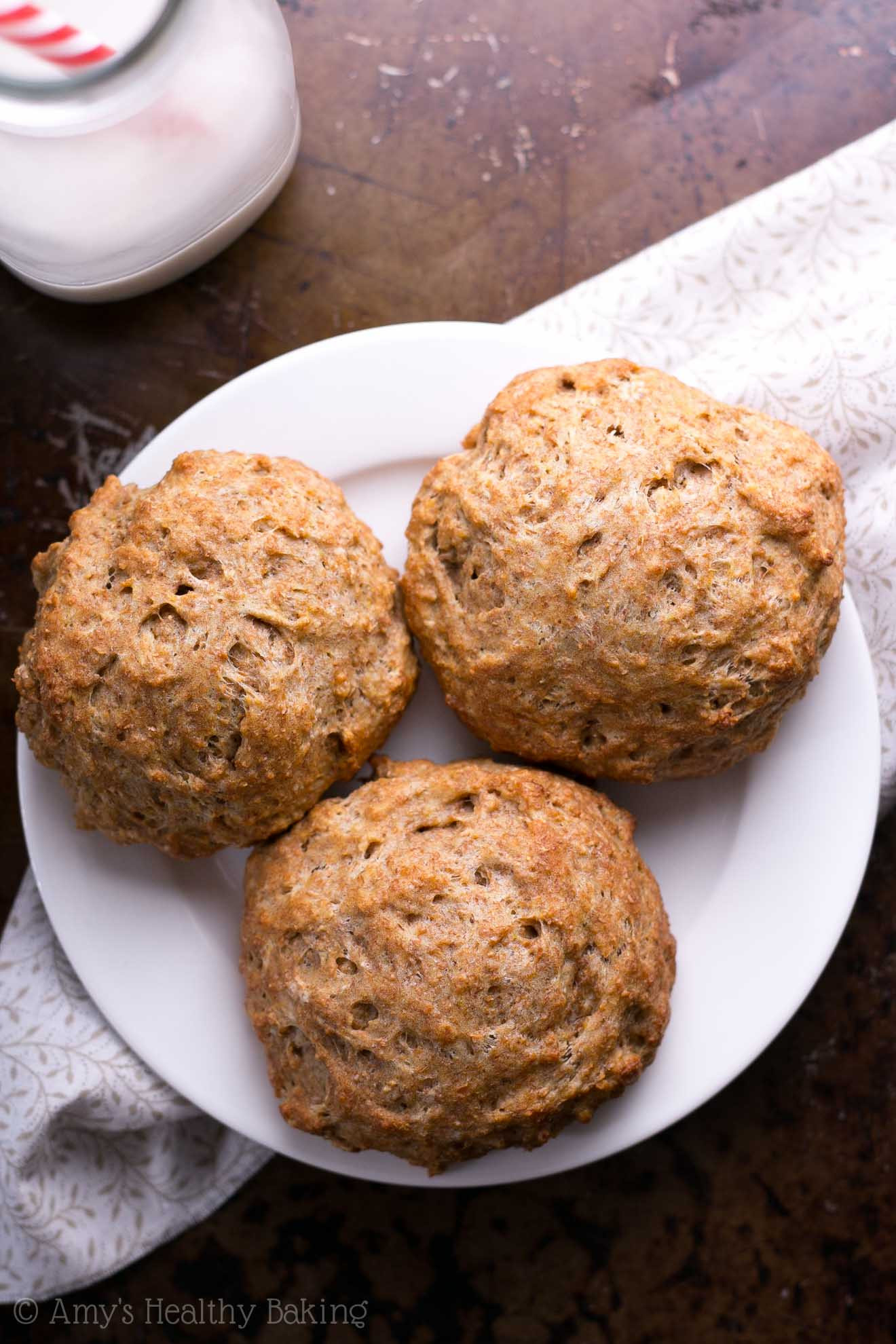 Healthy Biscuit Recipe  whole wheat drop biscuits from scratch