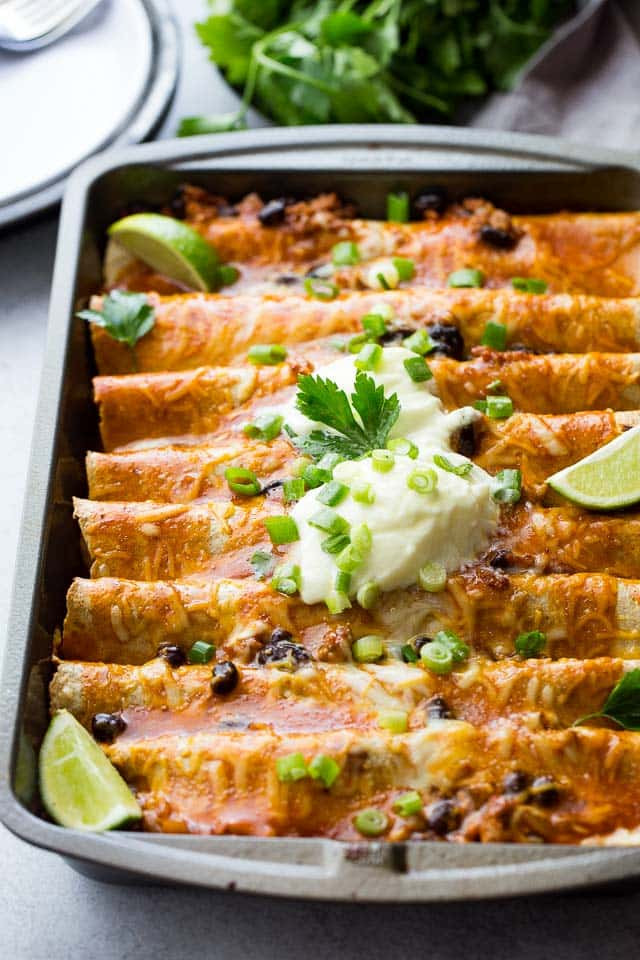 Healthy Black Bean Enchiladas  15 Ground Turkey Recipes to Get Out of the Dinner Rut