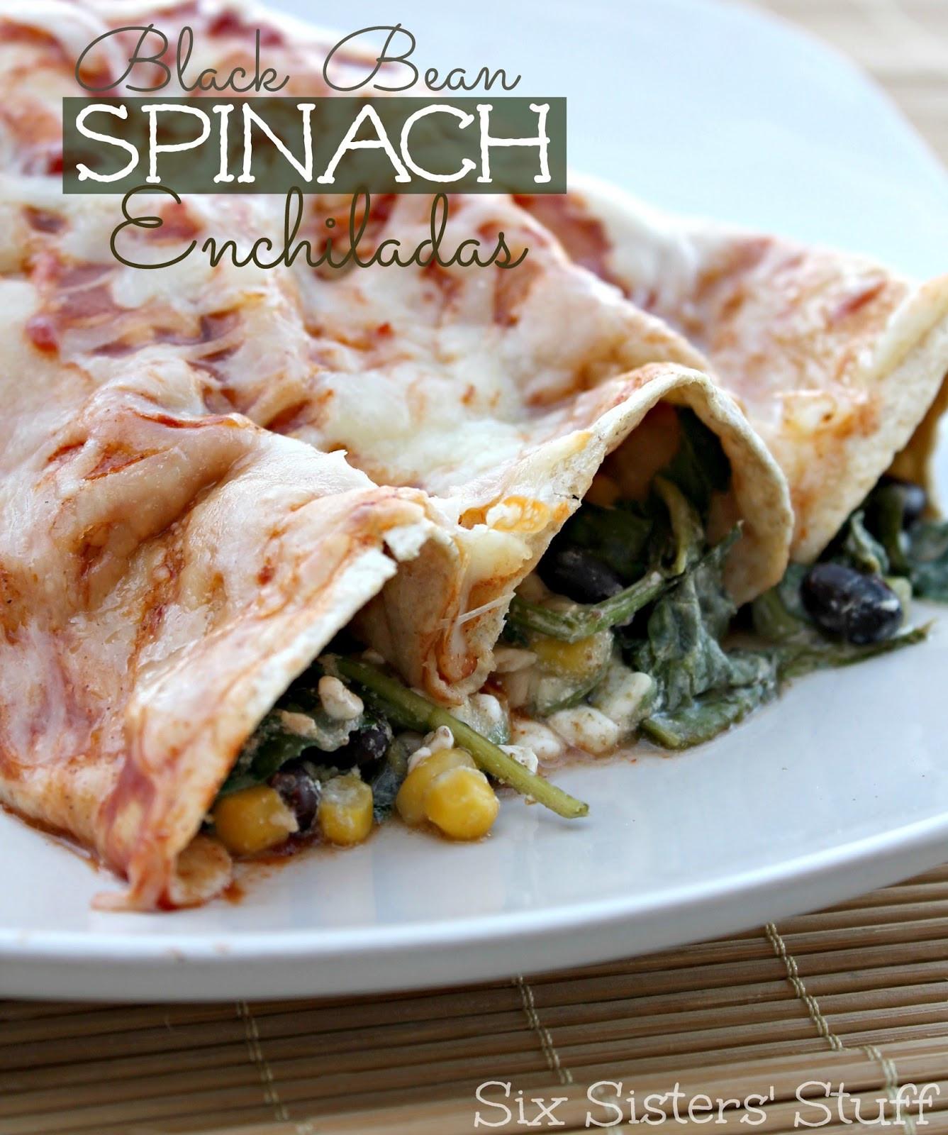 Healthy Black Bean Enchiladas  Healthy Black Bean Spinach Enchiladas