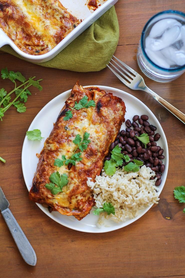 Healthy Black Bean Enchiladas  Small Batch Sweet Potato and Black Bean Enchiladas The