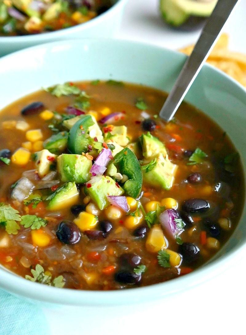 Healthy Black Bean Recipes  Spicy Vegan Black Bean Soup The Glowing Fridge