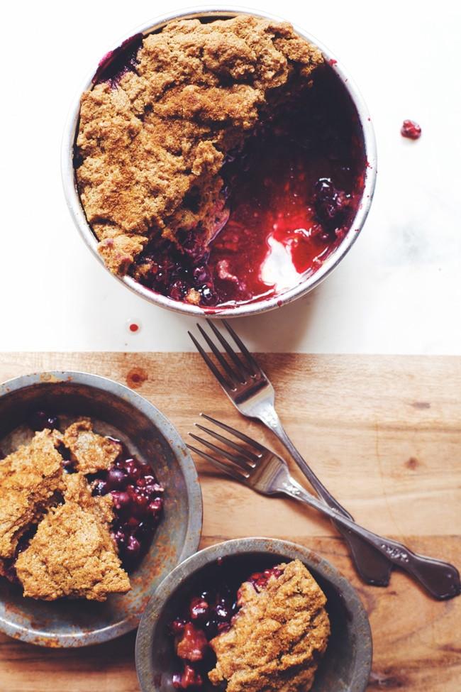 Healthy Blackberry Cobbler  Healthy Berry Cobbler