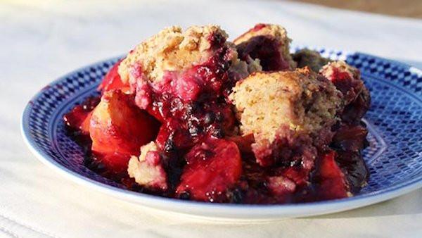 Healthy Blackberry Cobbler  Vegan Dessert Recipe Healthy Blackberry Peach Cobbler
