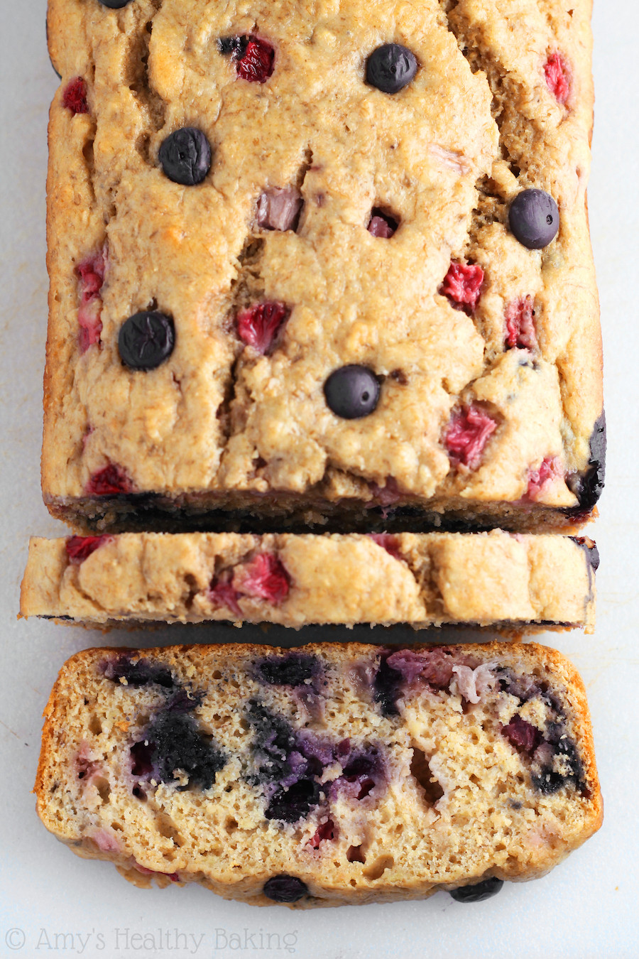 Healthy Blueberry Bread Recipes  Whole Wheat Strawberry Blueberry Banana Bread Recipe