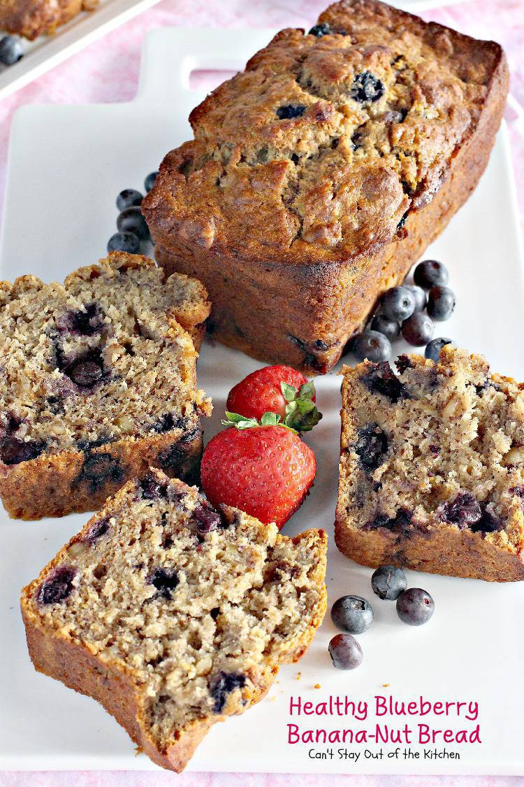 Healthy Blueberry Bread Recipes  Healthy Blueberry Banana Nut Bread Can t Stay Out of the