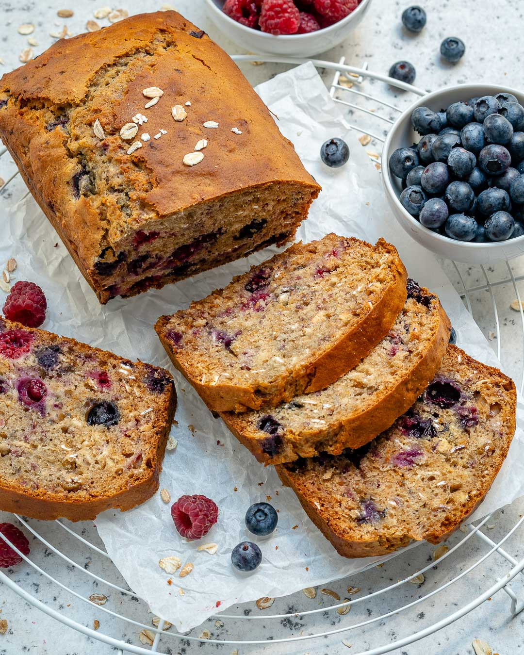 Healthy Blueberry Bread Recipes  Healthy Blueberry Oatmeal Bread Recipe