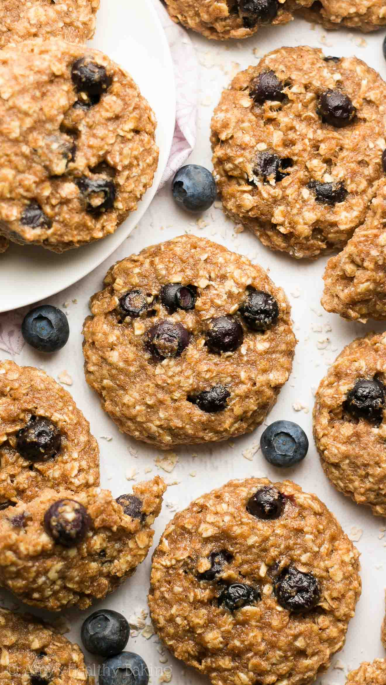 Healthy Blueberry Breakfast Recipes  Healthy Blueberry Oatmeal Breakfast Cookies