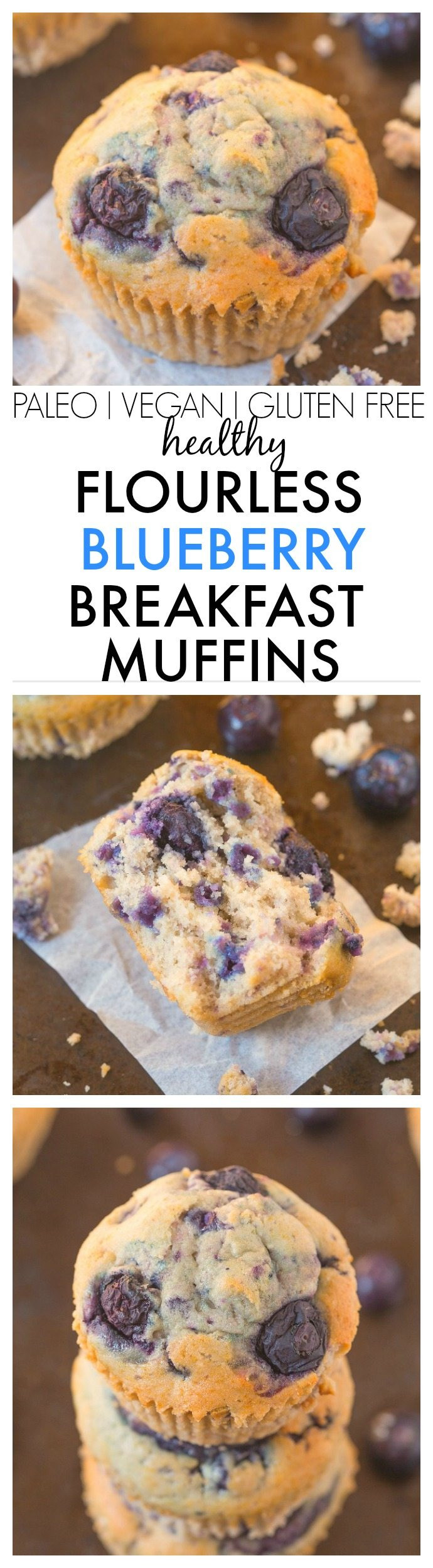 Healthy Blueberry Breakfast Recipes  Healthy Flourless Blueberry Breakfast Muffins