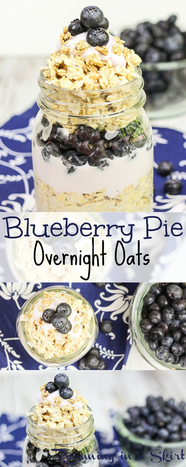 Healthy Blueberry Breakfast Recipes  Blueberry Pie Overnight Oats Recipe