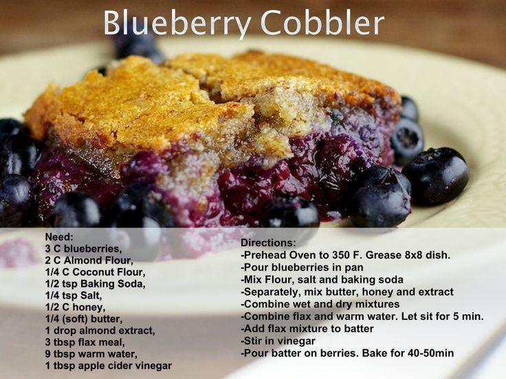 Healthy Blueberry Cobbler  1000 ideas about Healthy Blueberry Cobbler on Pinterest