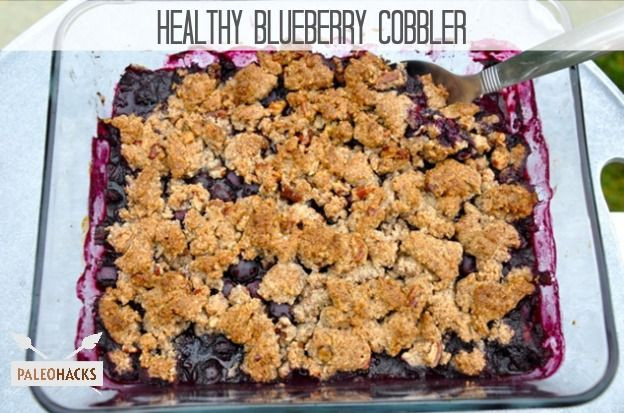 Healthy Blueberry Cobbler  17 Best images about PALEO SWEETS on Pinterest