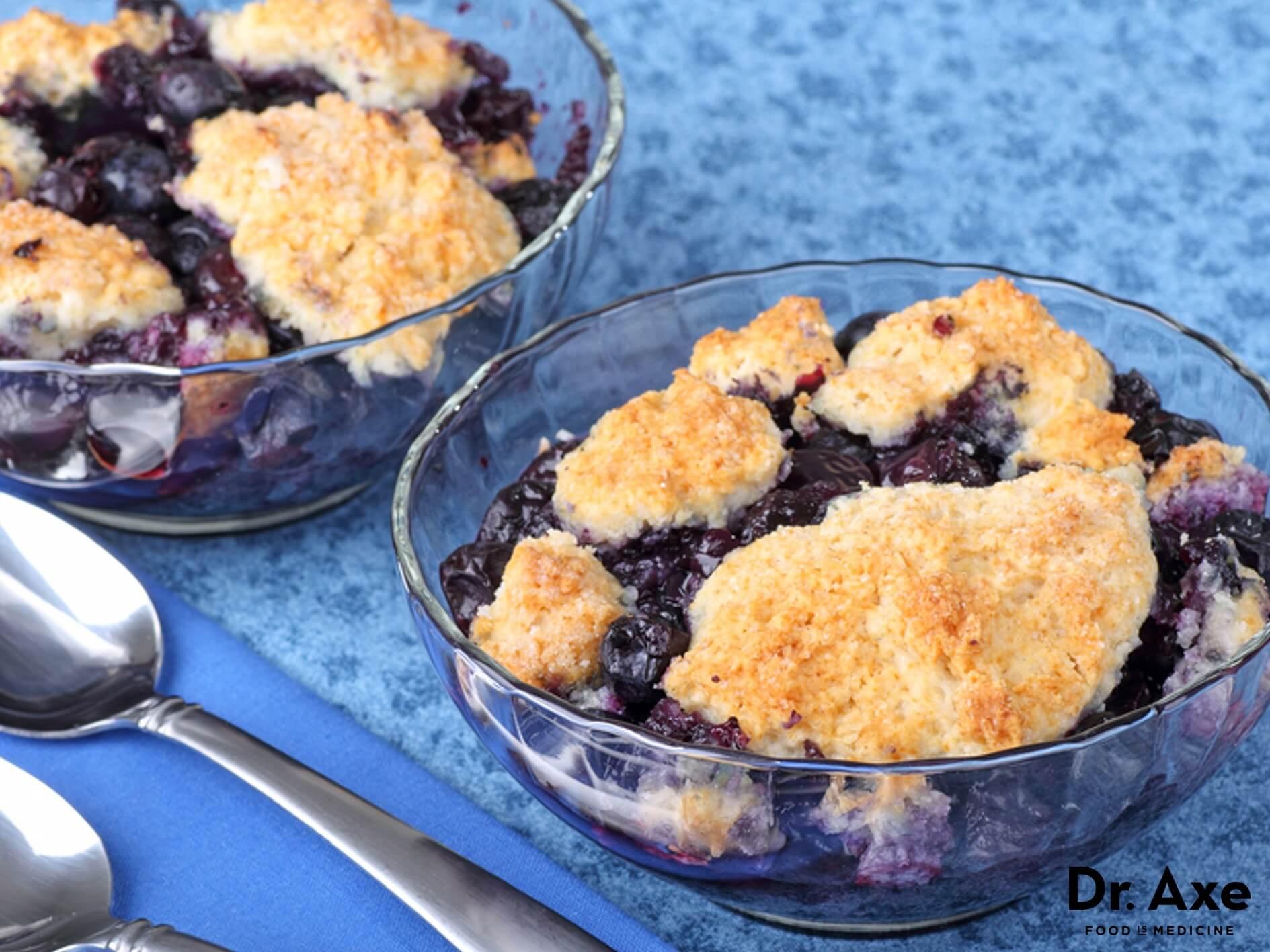 Healthy Blueberry Cobbler  Healthy Blueberry Cobbler Recipe Dr Axe
