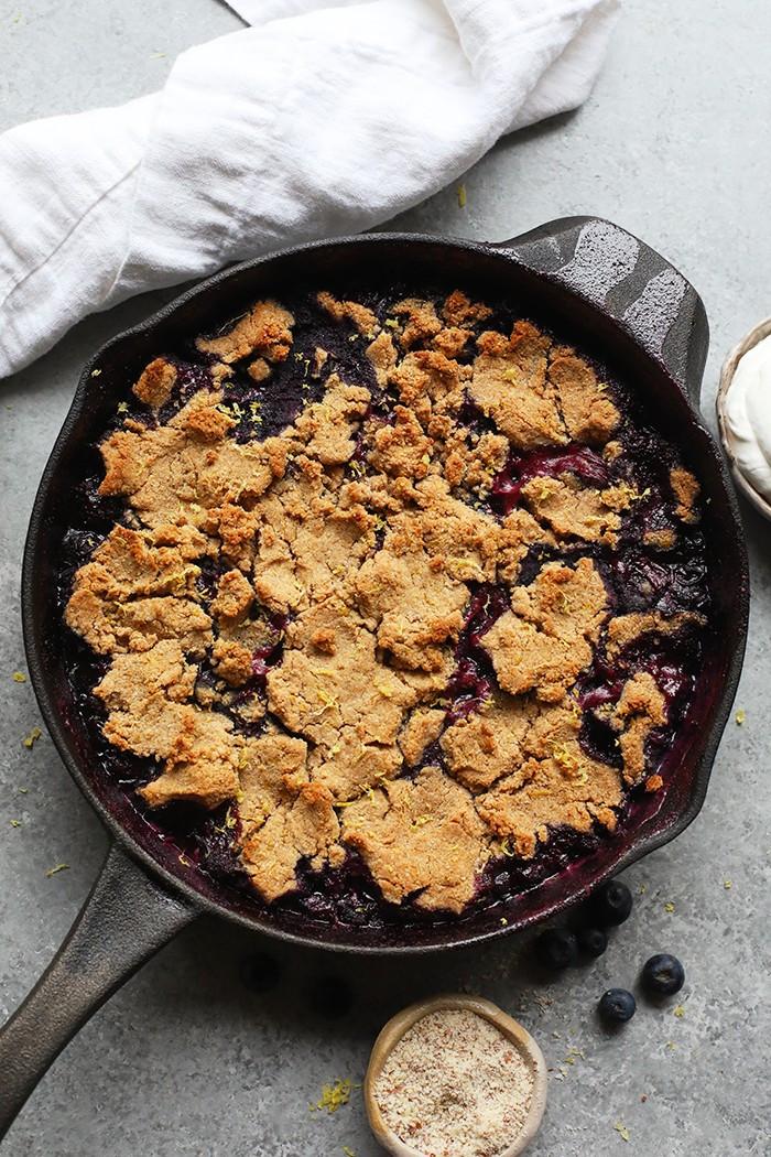 Healthy Blueberry Cobbler  Healthy Blueberry Cobbler gluten free Fit Foo Finds