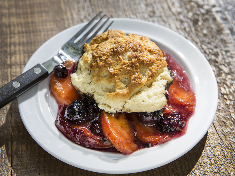Healthy Blueberry Cobbler  Peach & Blueberry Cobbler Dr Weil s Healthy Kitchen