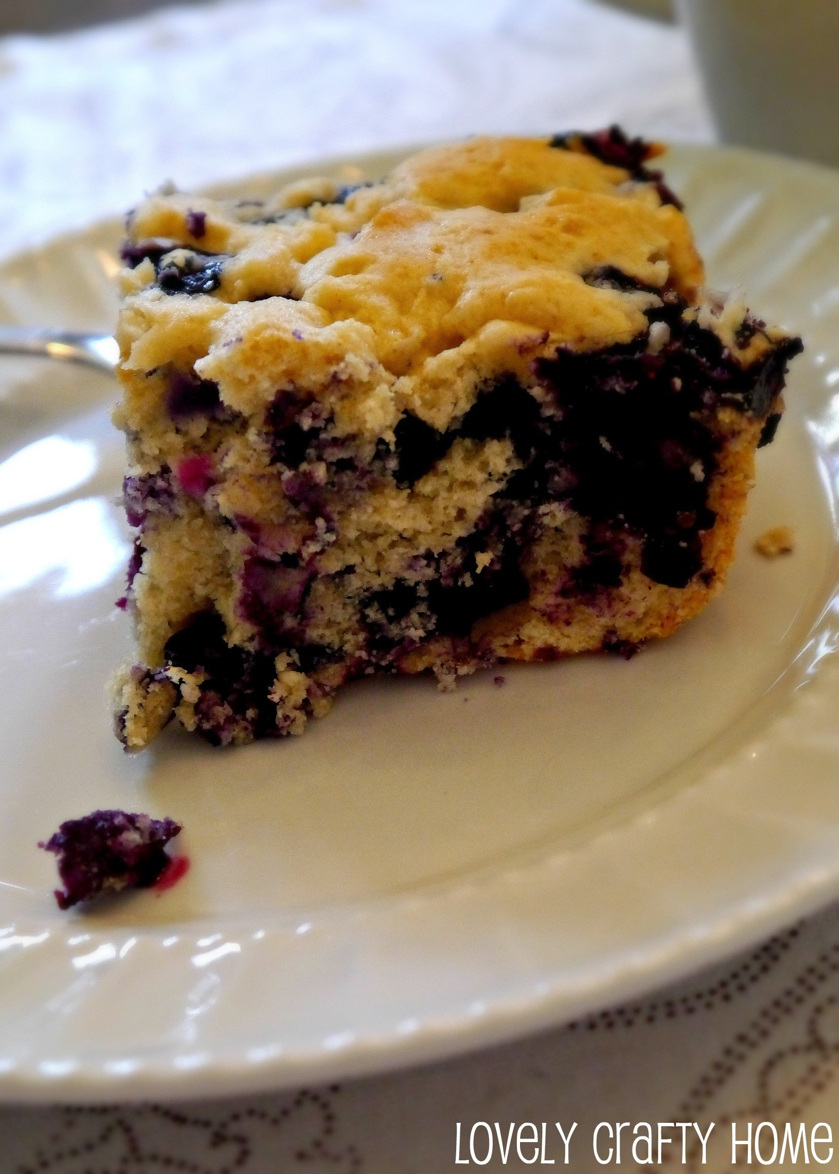 Healthy Blueberry Coffee Cake  Blueberry Coffee Cake sort of healthy