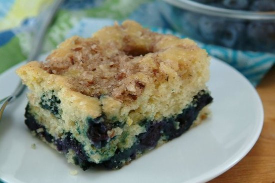 Healthy Blueberry Coffee Cake  Healthy Blueberry Lemon Coffee Cake Recipe