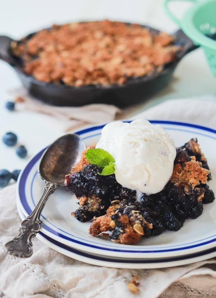 Healthy Blueberry Dessert Recipes  Ginger Blueberry Crisp Recipe