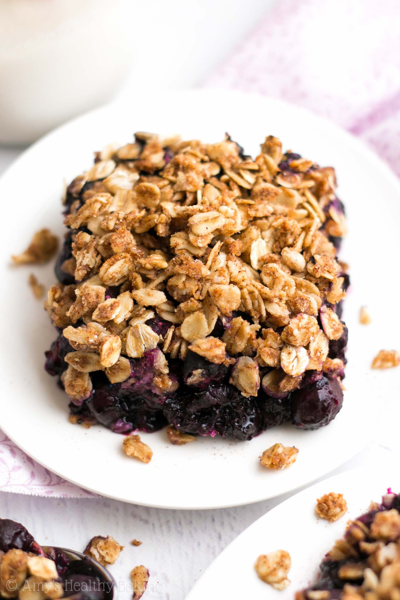 Healthy Blueberry Dessert Recipes  The Ultimate Healthy Blueberry Crumble Recipe Video