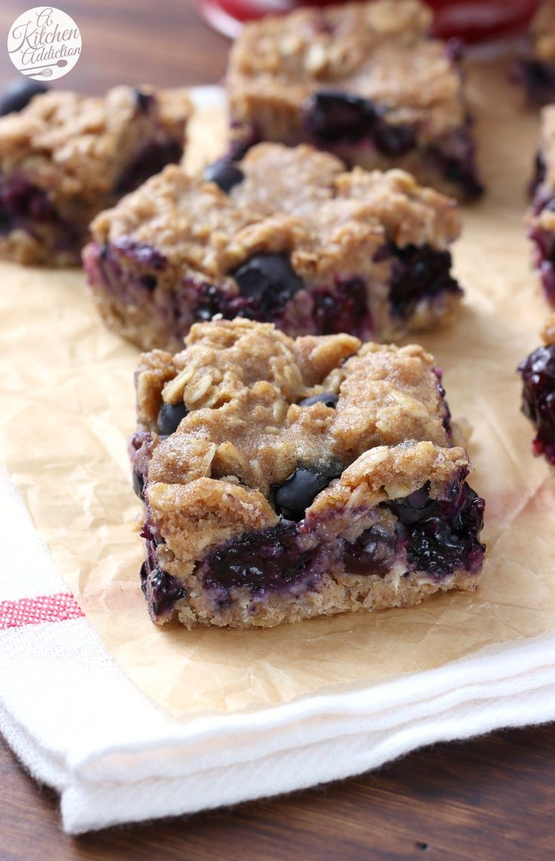 Healthy Blueberry Desserts  Best 25 Blueberry oat bars ideas on Pinterest