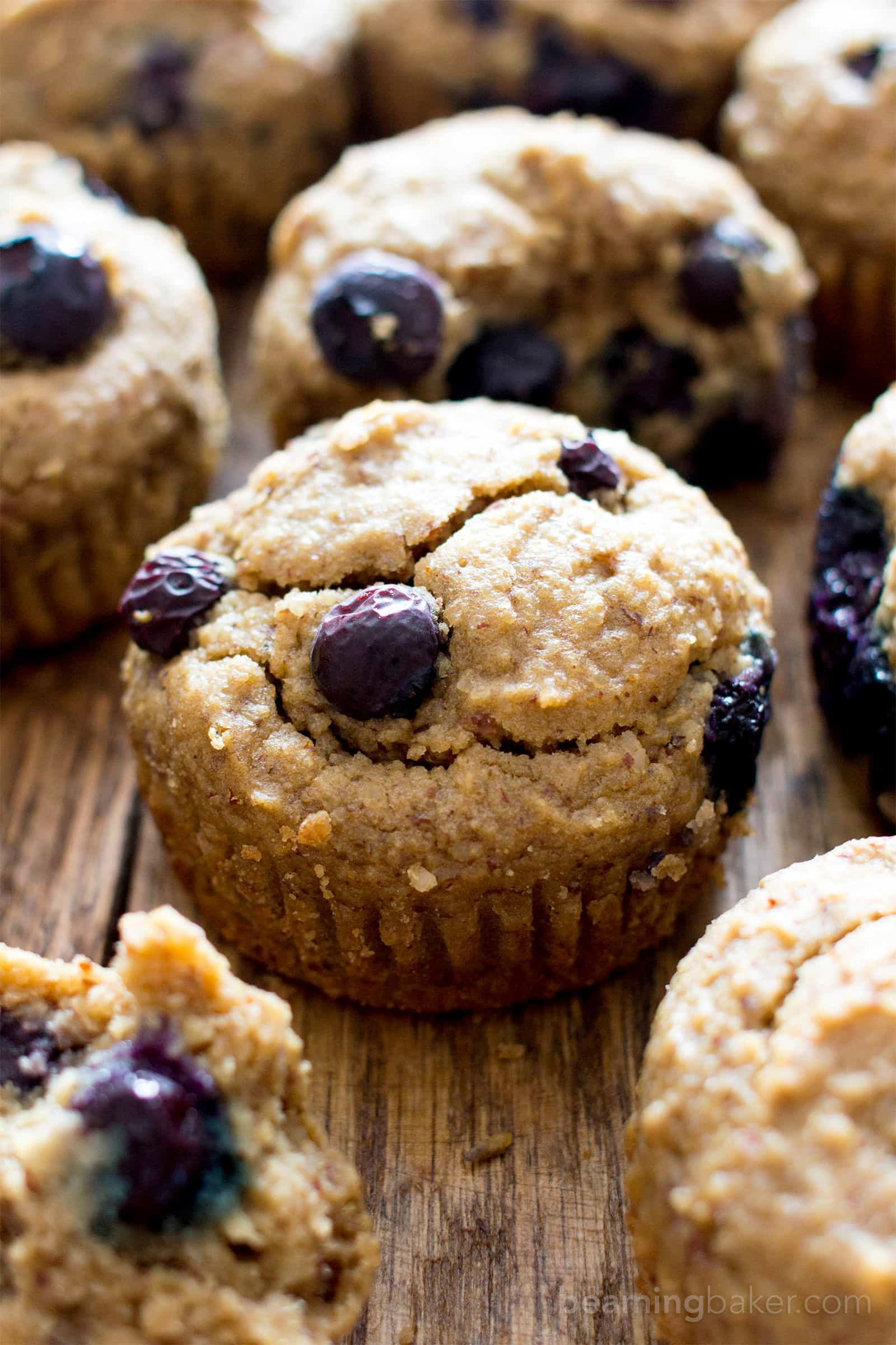 Healthy Blueberry Muffins With Applesauce  blueberry muffins applesauce oatmeal