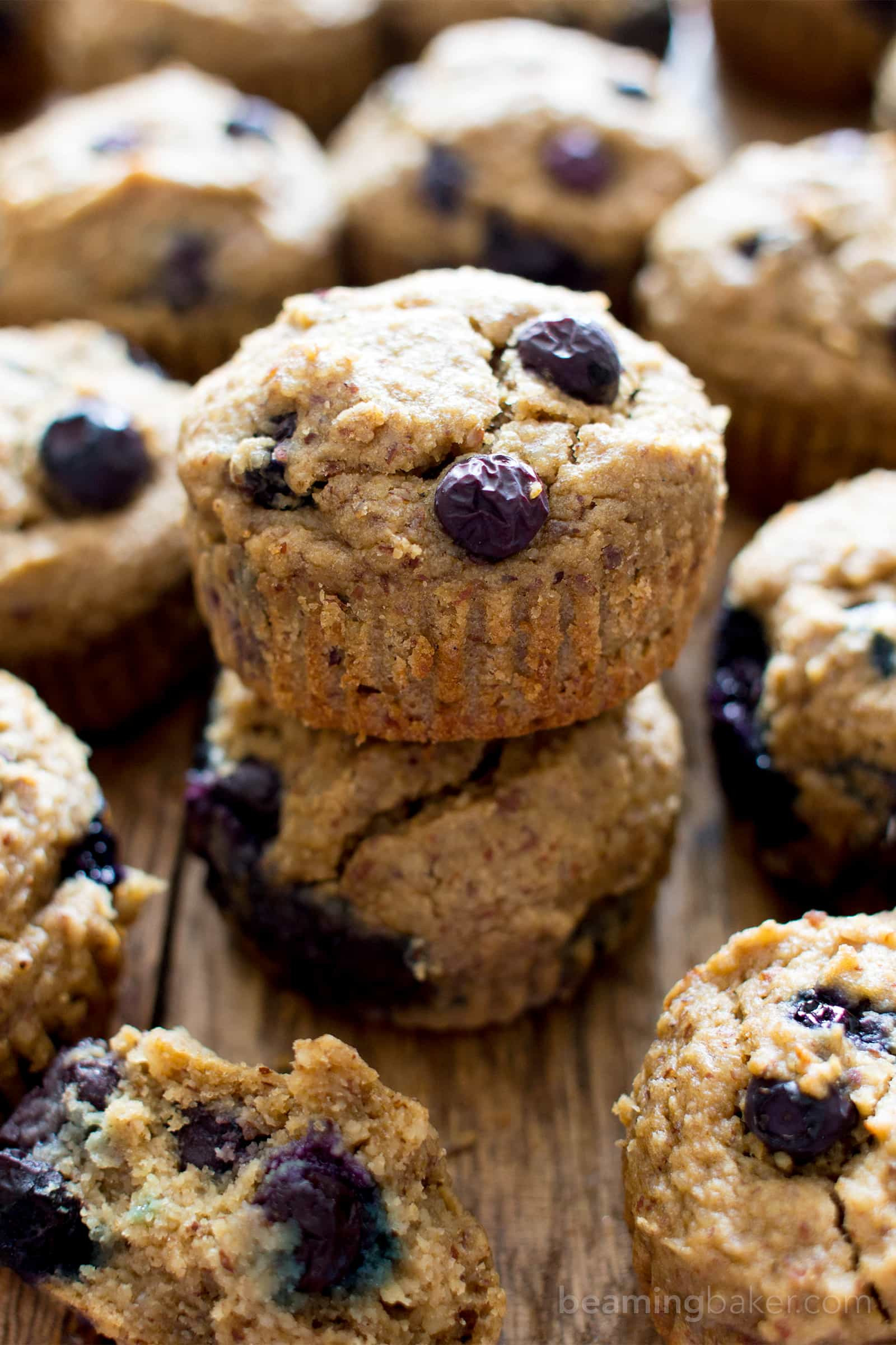 Healthy Blueberry Muffins With Applesauce  Gluten Free Vegan Blueberry Applesauce Muffins V GF DF