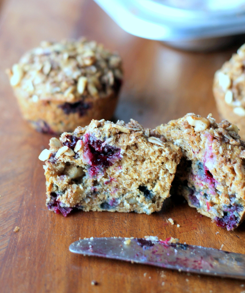 Healthy Blueberry Muffins With Applesauce  Oatmeal Blueberry Applesauce Muffins with Walnut Oat