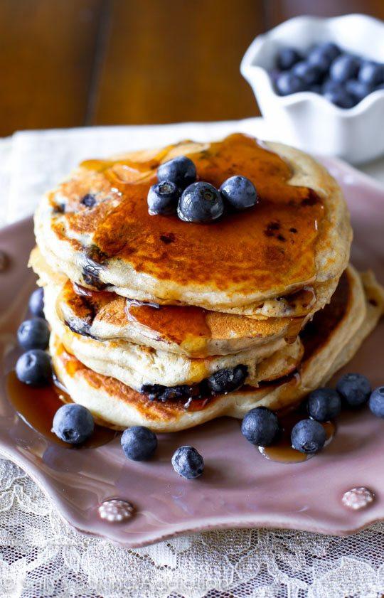 Healthy Blueberry Pancakes  Whole Wheat Blueberry Pancakes Sallys Baking Addiction