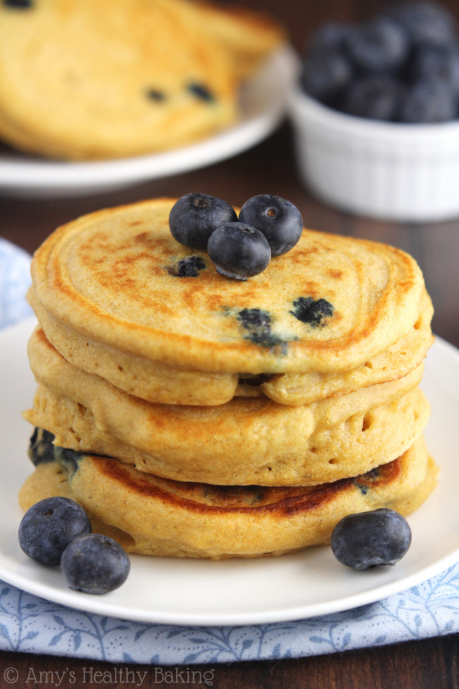 Healthy Blueberry Pancakes  blueberry pancakes healthy