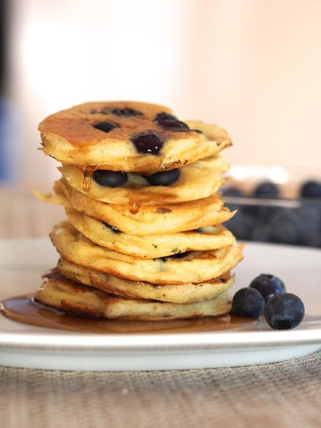 Healthy Blueberry Pancakes  Eating Healthy Quinoa Blueberry Pancakes