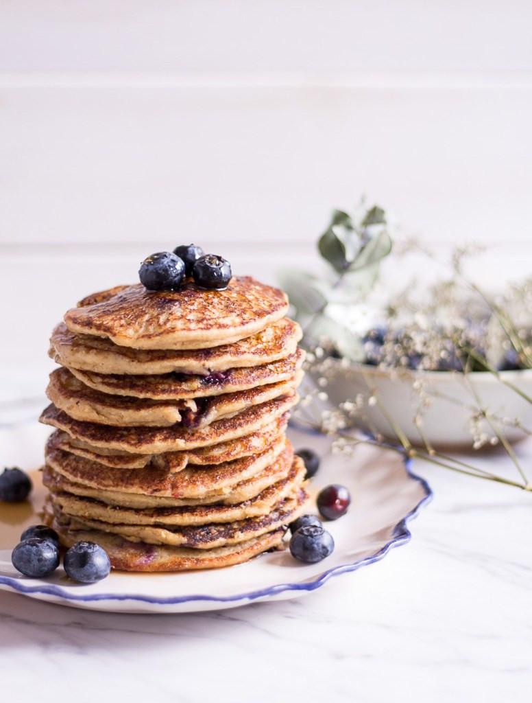 Healthy Blueberry Pancakes  Healthy Blueberry Millet Pancakes Heavenlynn Healthy