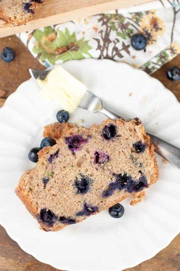Healthy Blueberry Zucchini Bread  Blueberry Zucchini Quick Bread