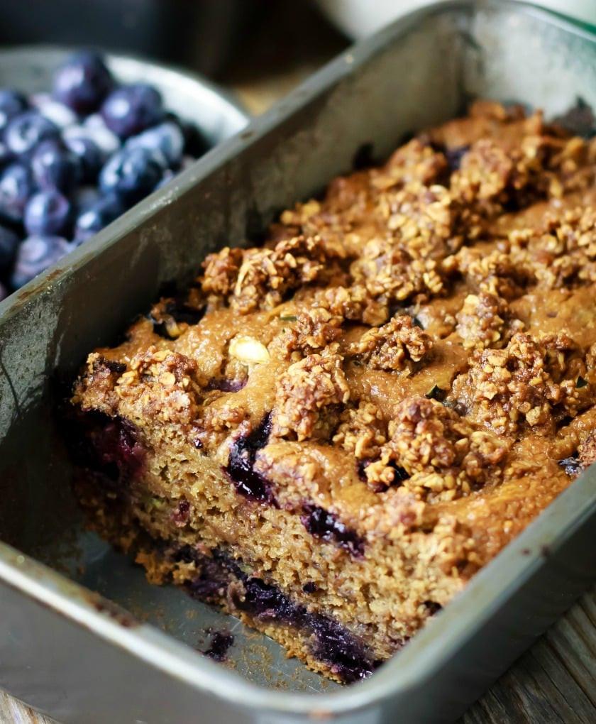 Healthy Blueberry Zucchini Bread  Healthy Blueberry Zucchini Bread
