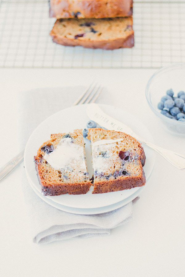 Healthy Blueberry Zucchini Bread  healthy blueberry zucchini bread Well Floured