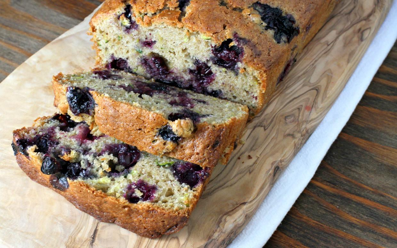 Healthy Blueberry Zucchini Bread  Blueberry Zucchini Bread