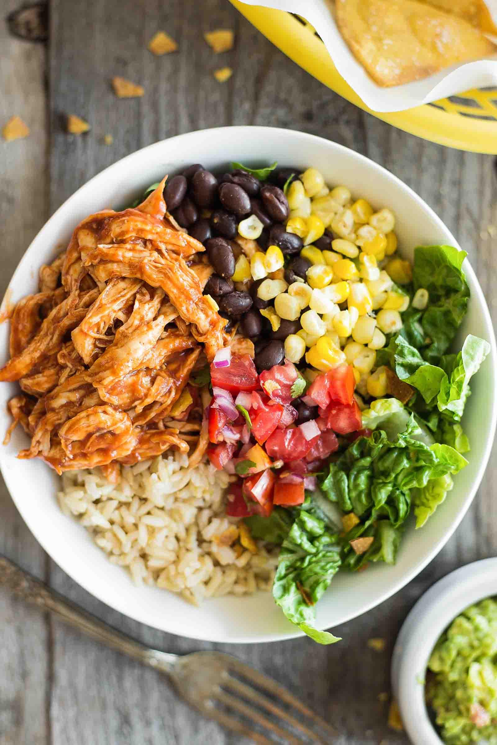 Healthy Bowl Recipes  BBQ Chicken Burrito Bowl Recipe