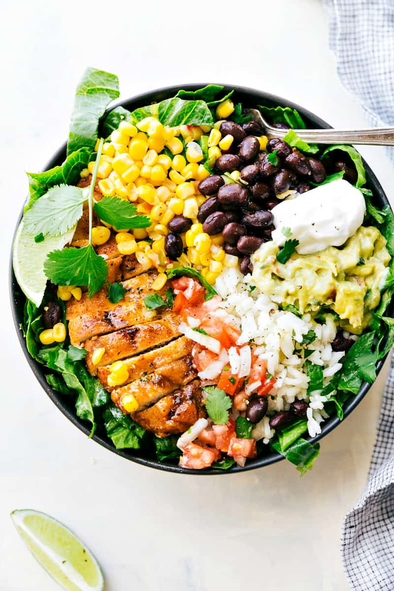 Healthy Bowl Recipes  Chicken Burrito Bowls