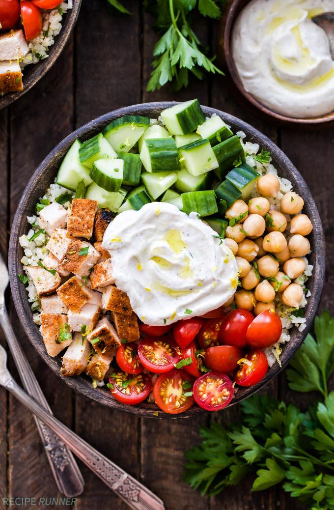 Healthy Bowl Recipes  Healthy Chicken Shawarma Bowls Recipe Runner