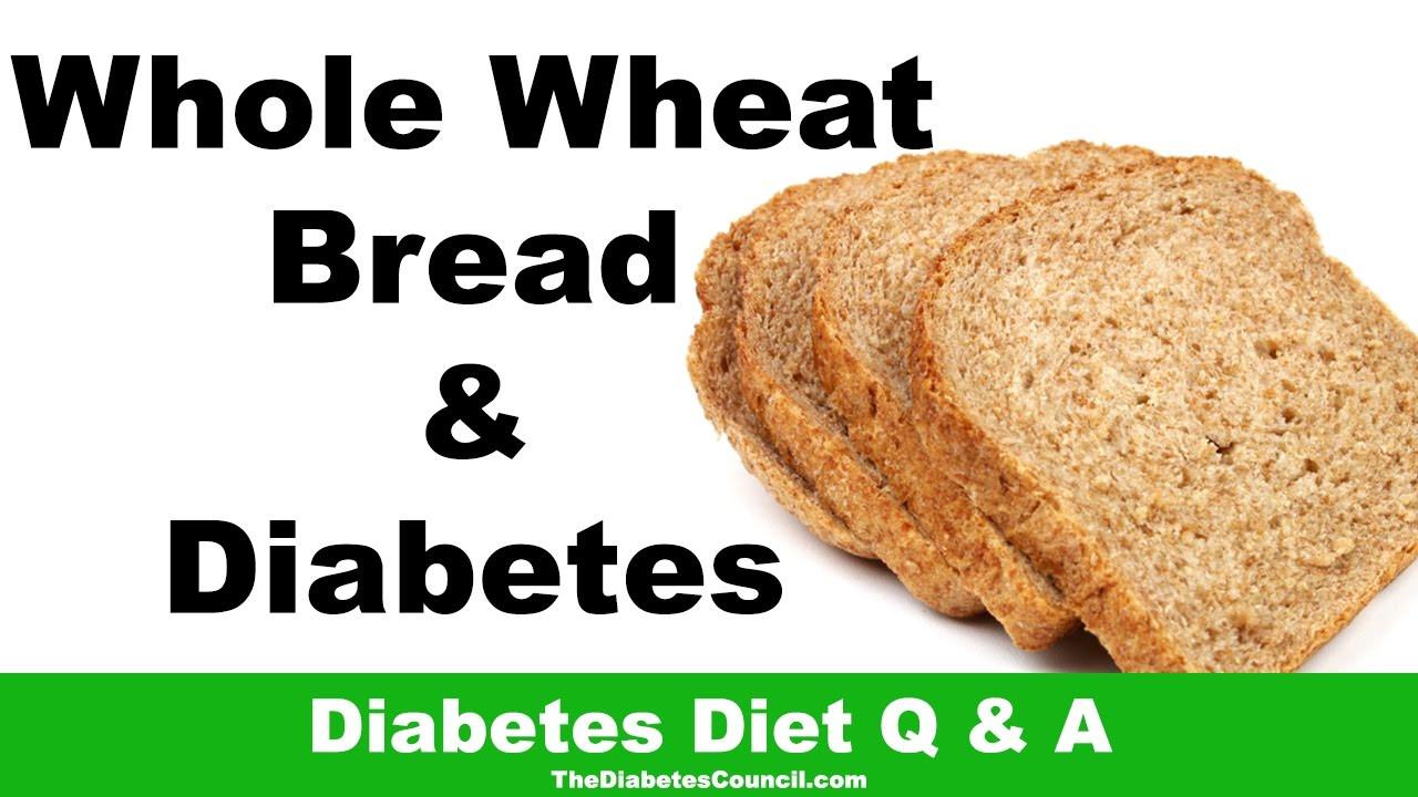 Healthy Bread For Diabetics  whole wheat bread for diabetics