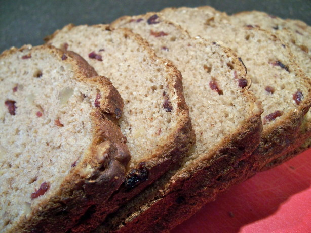 Healthy Bread Maker Recipes  Healthy Cranberry Walnut Bread Recipe Baking Food