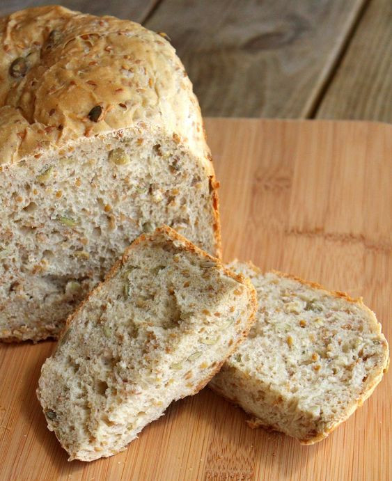 Healthy Bread Maker Recipes  Flax Seed and Pepita Bread via Rachel