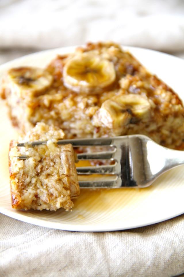 Healthy Bread Pudding  Banana Oat Bread Pudding