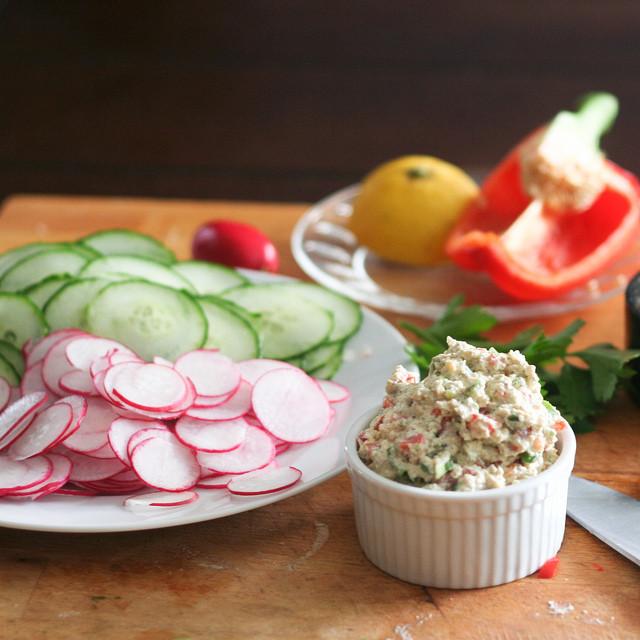 Healthy Bread Spread  Cucumber and Radish Wrap with Tofu Spread • The Healthy Foo