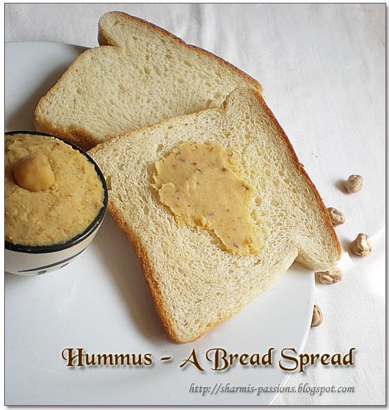 Healthy Bread Spread  Hummus A healthy bread spread Sharmis Passions