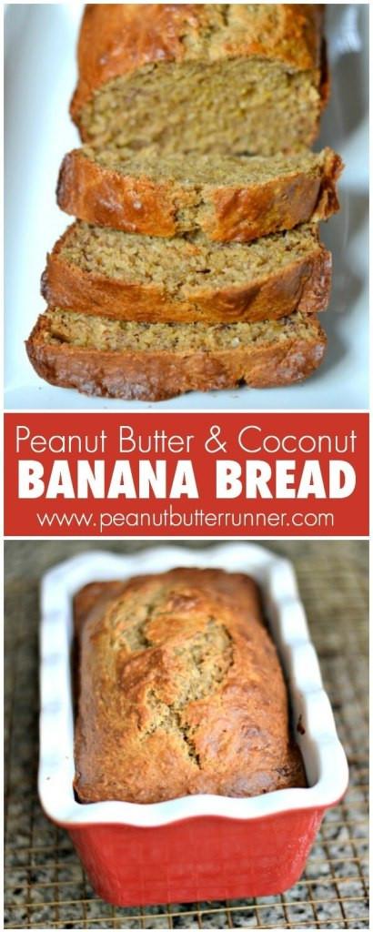 Healthy Bread Spread  Healthy ish Peanut Butter & Coconut Banana Bread