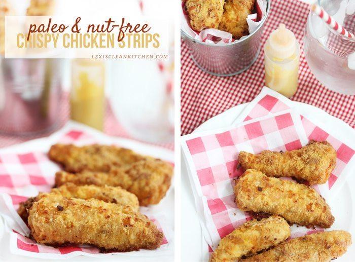 Healthy Breaded Chicken Tenders  Paleo & Nut Free Crispy Chicken Tenders & A Healthy Back