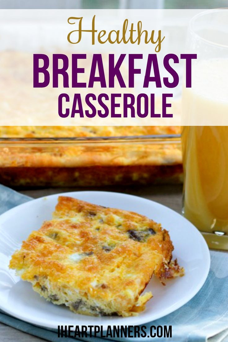 Healthy Breakfast Alternatives  Healthy Breakfast Casserole with Eggs