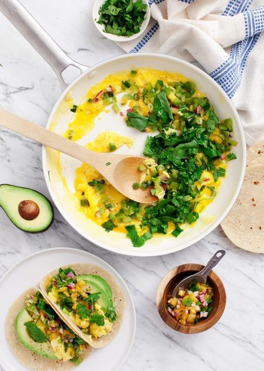 Healthy Breakfast Austin  Healthy Green Breakfast Tacos Recipe Love and Lemons