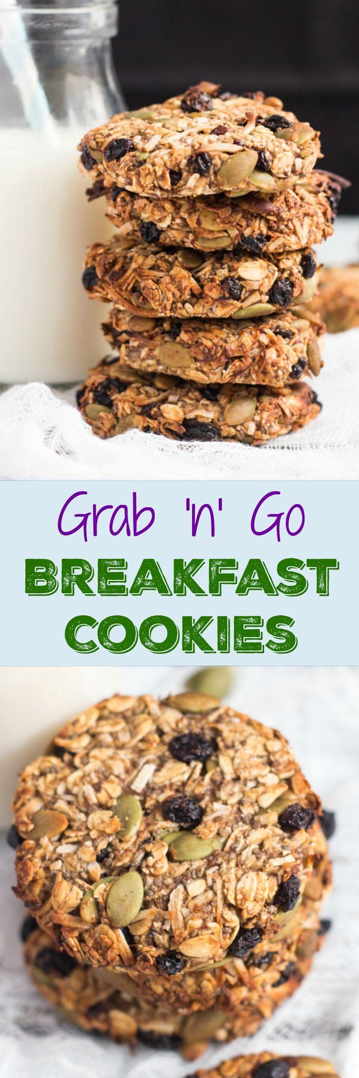 Healthy Breakfast Baked Goods  Grab and Go Breakfast Cookies – Recipes From Pins