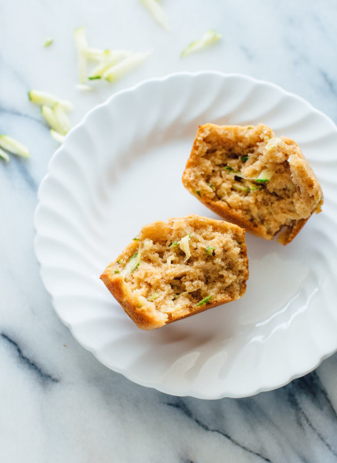 Healthy Breakfast Baked Goods  Healthy Zucchini Muffins Recipe Cookie and Kate